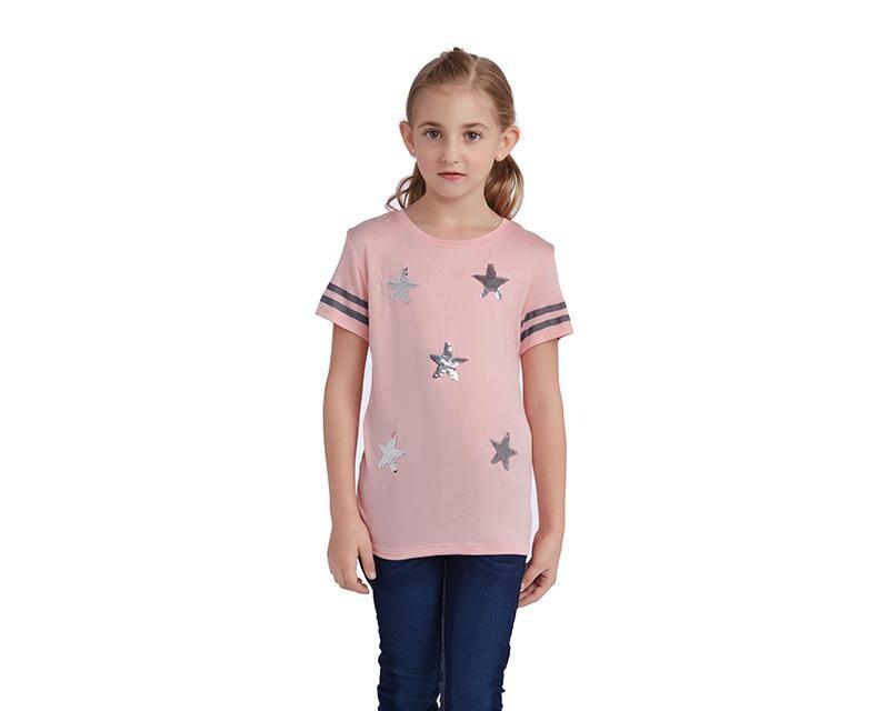 Playera con Estrellas para Niña Up   Down Girls c9045767ad61d